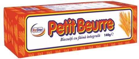 ROSTAR PETIT BEURRE BISCUITI FAINA INTEGRALA 140G