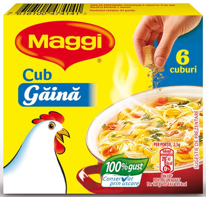 MAGGI CUB GAINA 60G
