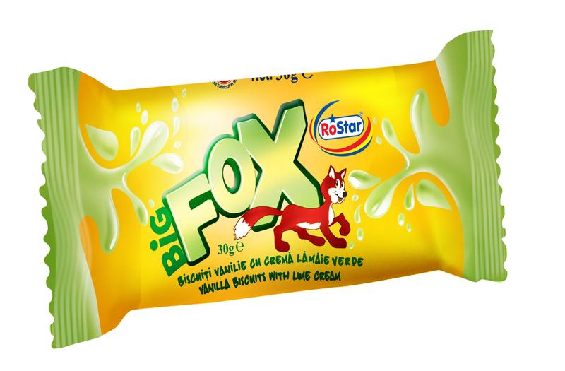 ROSTAR BIG FOX BISCUITE VANILIE CREMA LAMAIE 30G