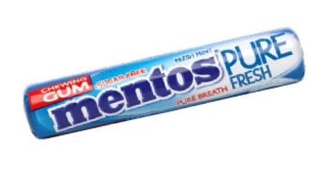 MENTOS GUMA DE MESTECAT PURE FRESH 15.5G