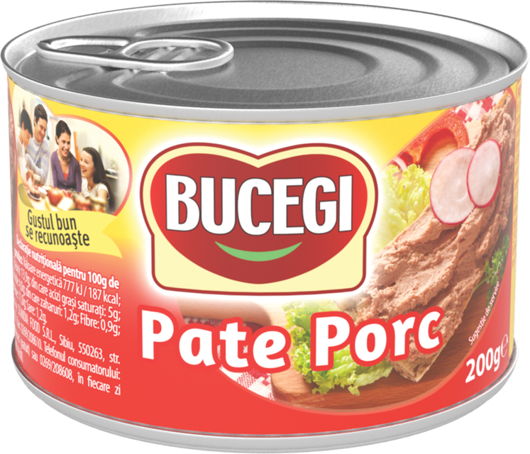 BUCEGI PATE PORC 200G