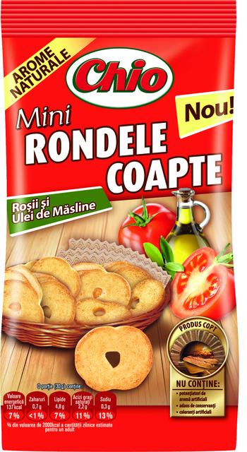CHIO MINI RONDELE COAPTE CU ROSII&ULEI MAS.70G