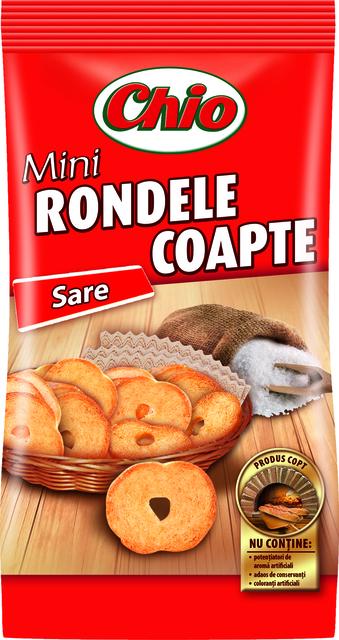 CHIO MINI RONDELE COAPTE CU SARE 70G