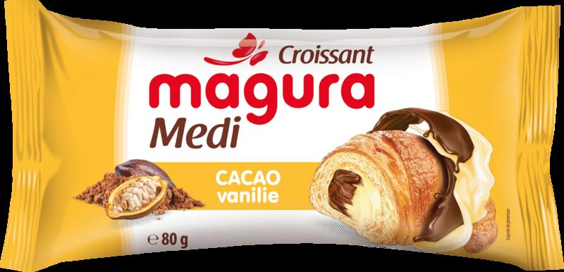 MAGURA CROISSANT CU CREMA DE CACAO-VANILIE 80G