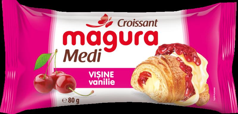 MAGURA CROISSANT CU CREMA DE VANILIE-VISINE 80G