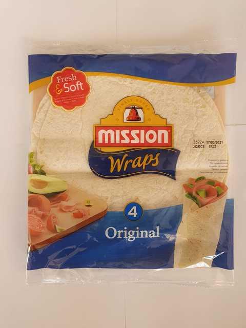 MISSION WRAPS TORTILLA ORIGINAL 245G