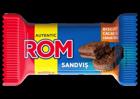 ROM SANDVIS DUBLU CACAO SI ROM 36G