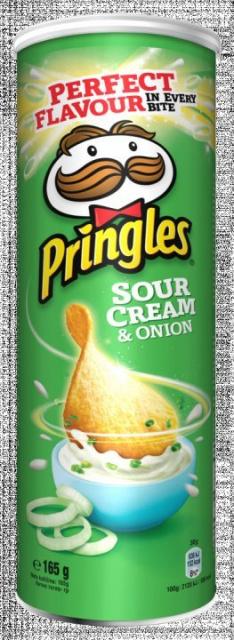 PRINGLES SOUR CREAM&ONION 165G