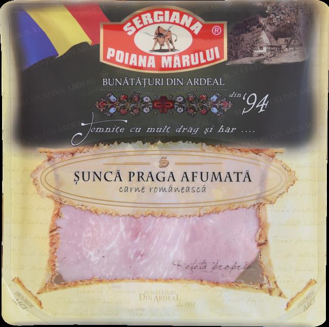 ȘUNCĂ PRAGA AFUMATĂ FELIATĂ 150G