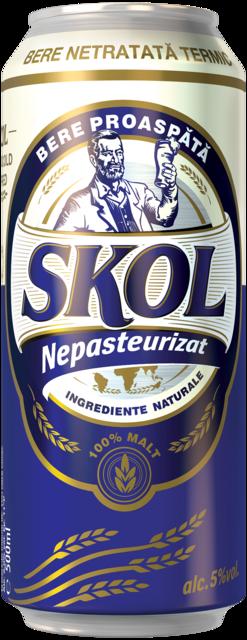 SKOL NEPASTEURIZAT BERE DOZA 0.5L