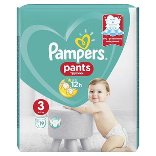 PAMPERS PANTS ACT BABY 3 6-11KG SMP(19)