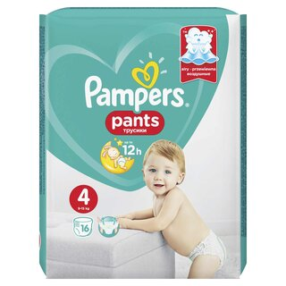 PAMPERS PANTS ACT BABY 4 9-14KG SMP(16)