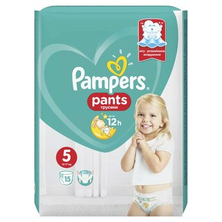 PAMPERS PANTS ACT BABY 5 12-18KG SMP(15)