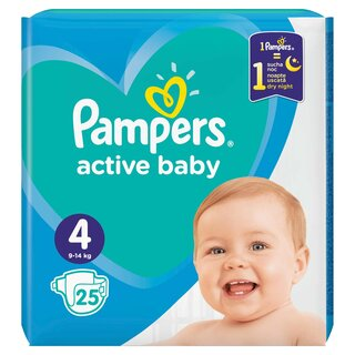 PAMPERS ACT BABY 4 9-14KG CP(25)