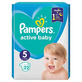 PAMPERS ACT BABY 5 11-16KG CP(22)