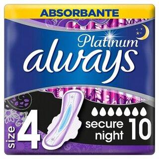 ALWAYS PLATINUM NIGHT DUO (10) SIZE 4