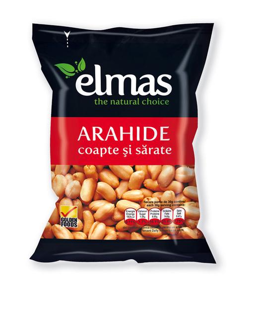 ELMANS ARAHIDE DECOJITE COAPTE CU SARE 300G