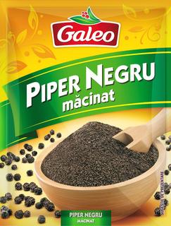GALEO PIPER NEGRU MACINAT 17G
