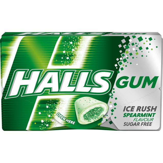 HALLS GUMM SPEARMIT 18G