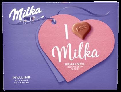 MILKA PRALINE I'LOVE CAPSUNI 110G