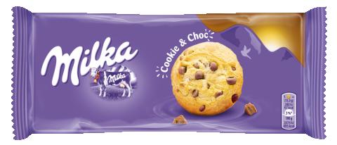 MILKA BISCUITI CHOCO COOKIES 135G