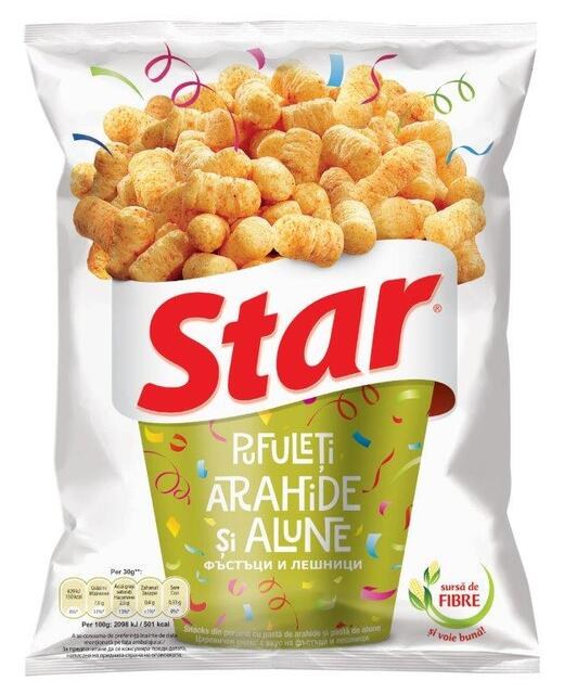 STAR SNACKS PEANUT&HAZELNUT 95G