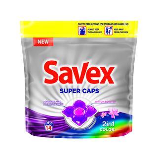 SAVEX CAPS 2IN1 COLOR 14BUC