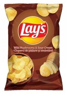 LAY'S CHIPS MUSHROOMS & CREAM 140G