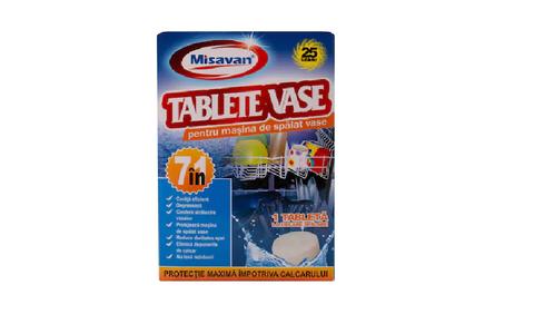 MISAVAN TABLETE MASINA SPALAT VASE 7IN1 25BUC